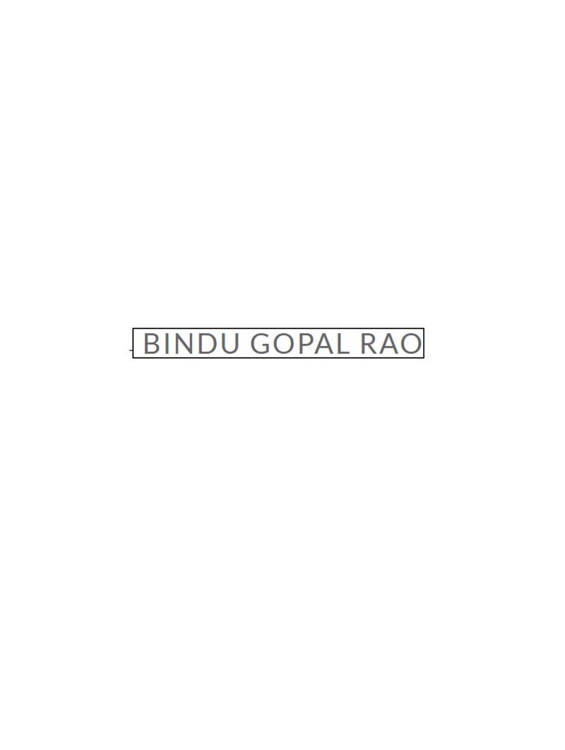 Bindugopalrao