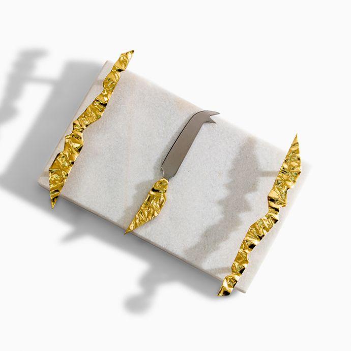 ADVA Small Cheese Board Set - Snow Leopard