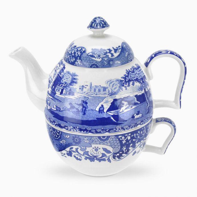 Blue Italian Tea-For-One Set