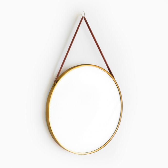 """Brassel Round Mirror - 27"""""""