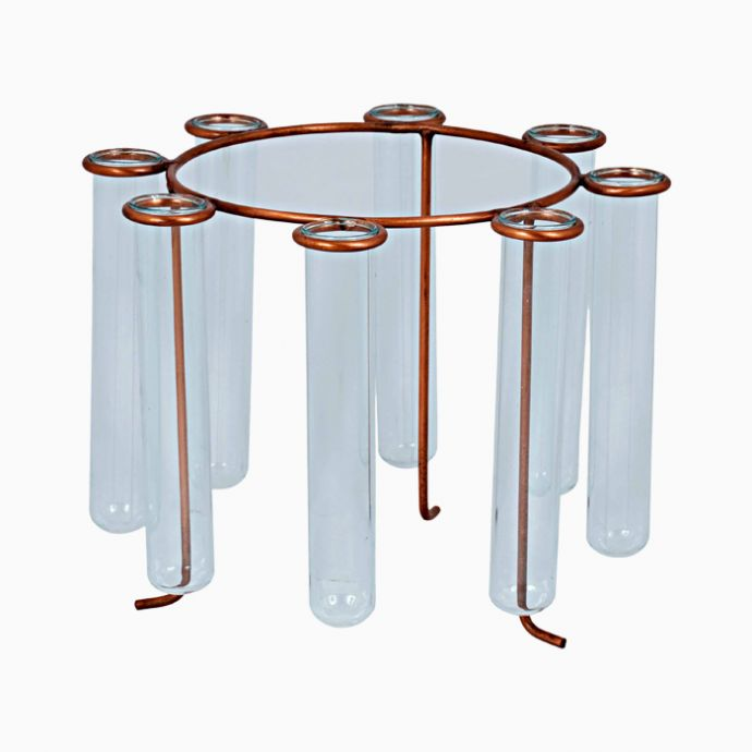 Carousel Brass Test Tube Vase