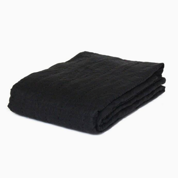 Charcoal Linen Quilt