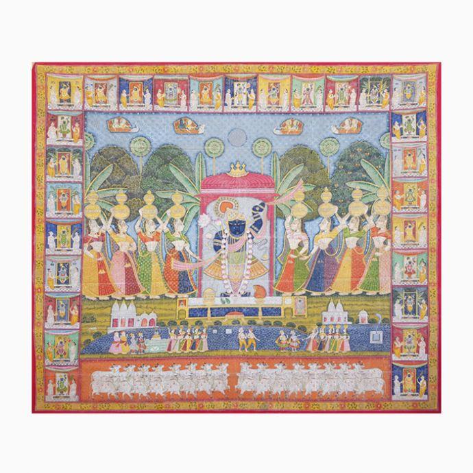 Chaubis Swaroop Ka Annakut Utsav Pichwai Painting