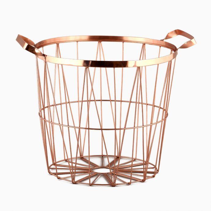 Contempo Wire Basket - Copper