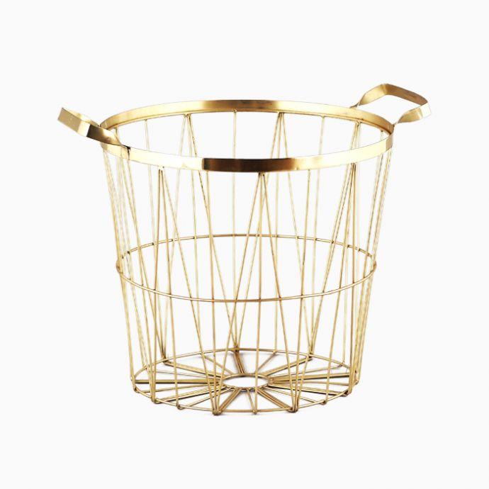 Contempo Wire Basket - Gold