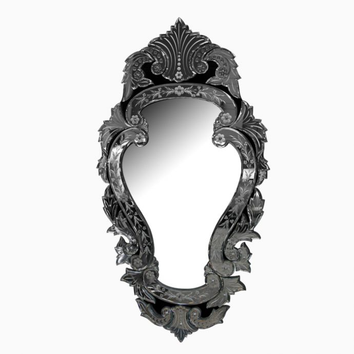 Pear shaped venetian mirror