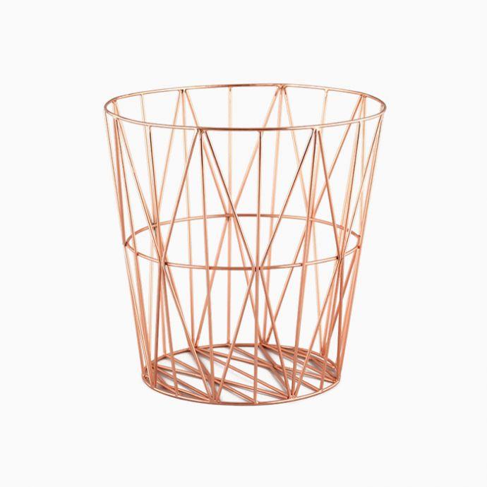 Diamond Wire Basket - Copper