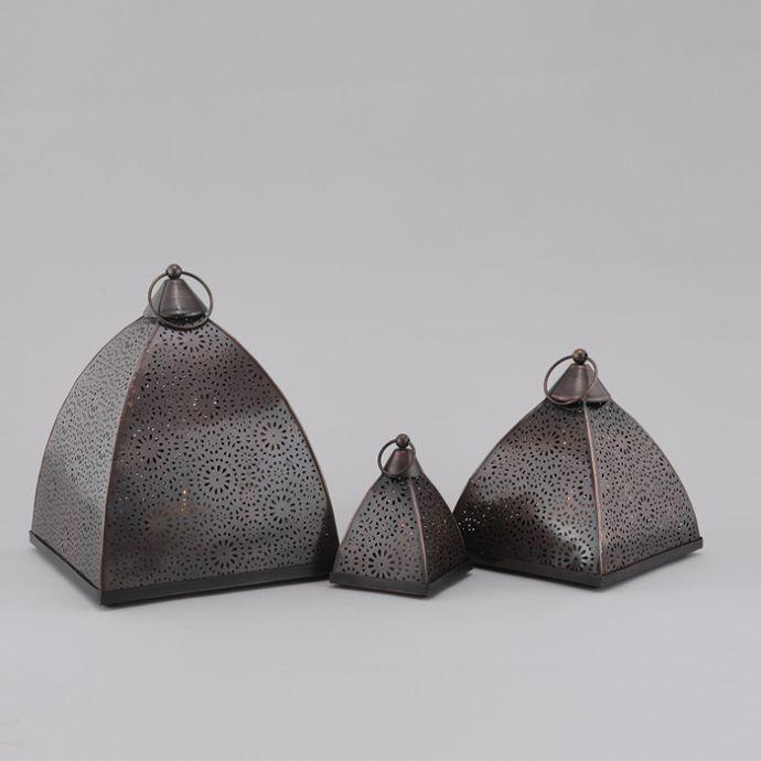 Etched Moroccan Lanterns (Set Of 3)