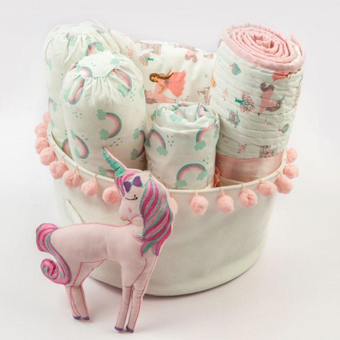 """Rockabye Baby"" Organic Crib Gift Hamper (Fairytale)"