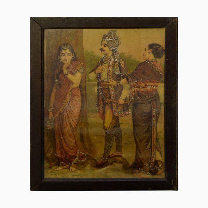 Ritudhwaj Meets Madalasa - Raja Ravi Varma