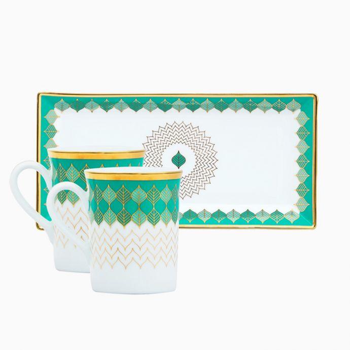 Banaras Mugs And Tray Set