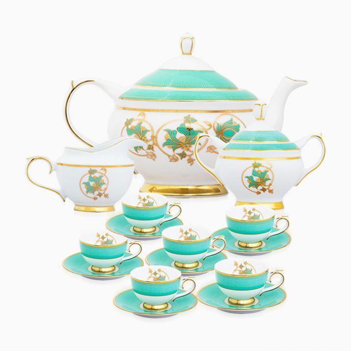 Spring In Udaipur 15 Piece Tea Set