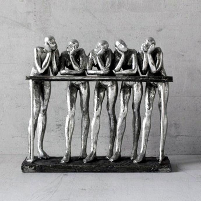 Five Wise Men in Conversation Sculpture