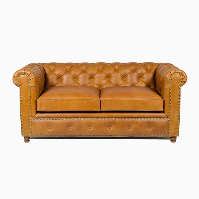 Gentleman's Club 2 Seater Sofa - Vintage Tan