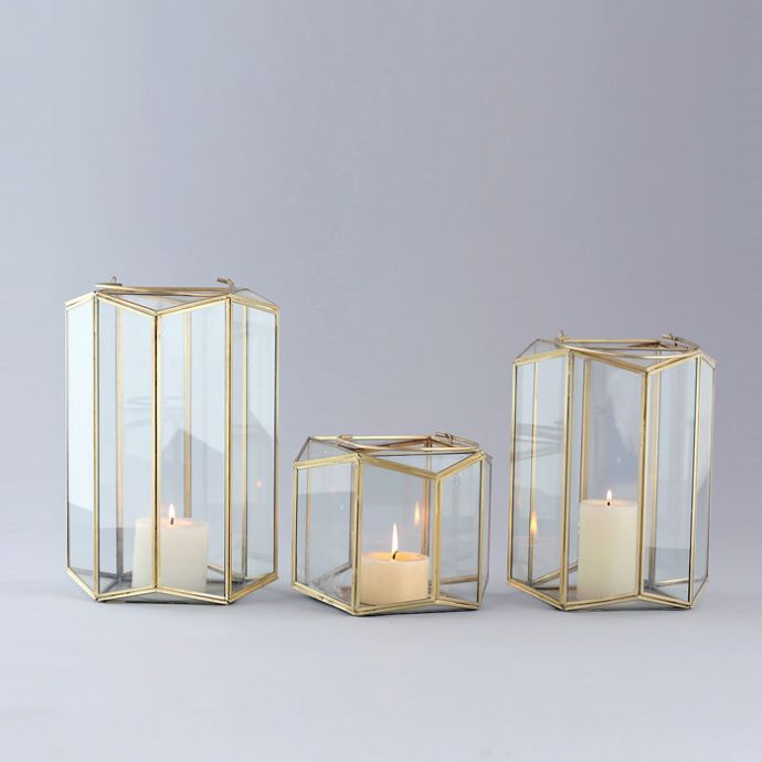 Geo Poly Lantern (Set Of 3)