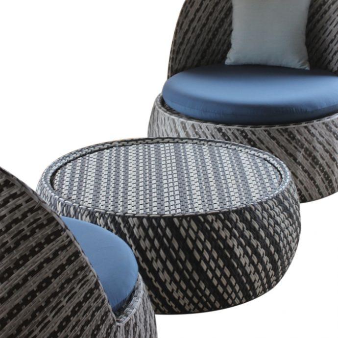 Yuki Patio Coffee Table & Lounge Chair