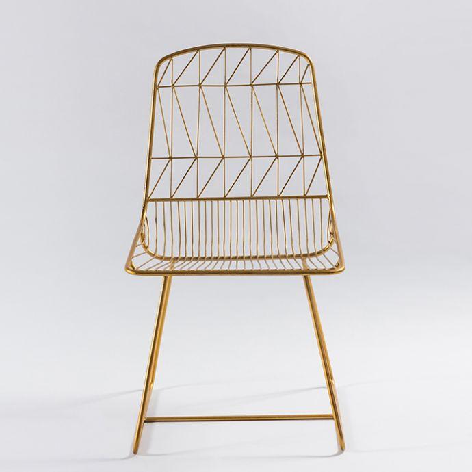 Gold Criss Cross Chair