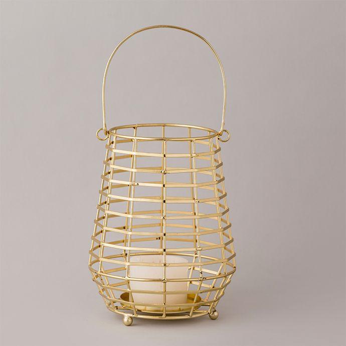 Gold Spiral Lantern