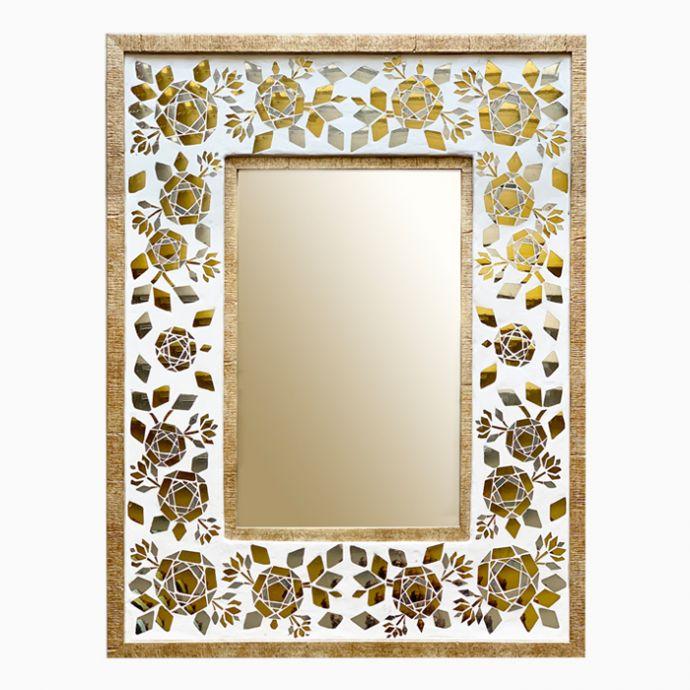 The 'Gulaab Guldasta' Wall Mirror
