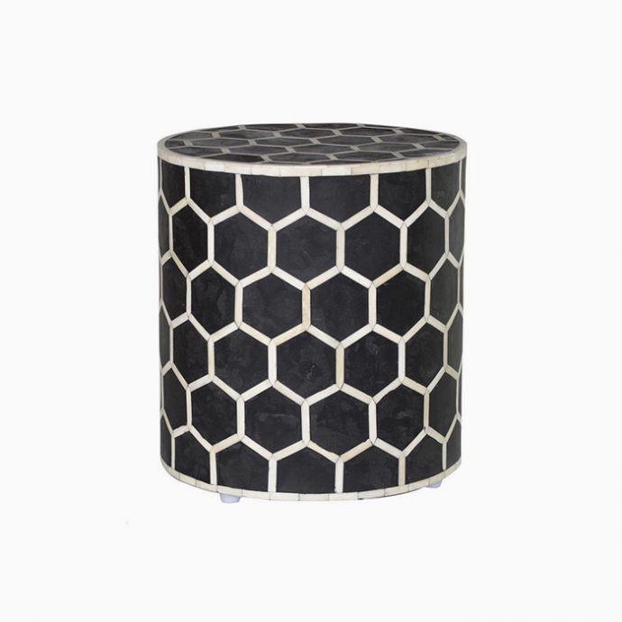 Honeycomb Inlay Stool