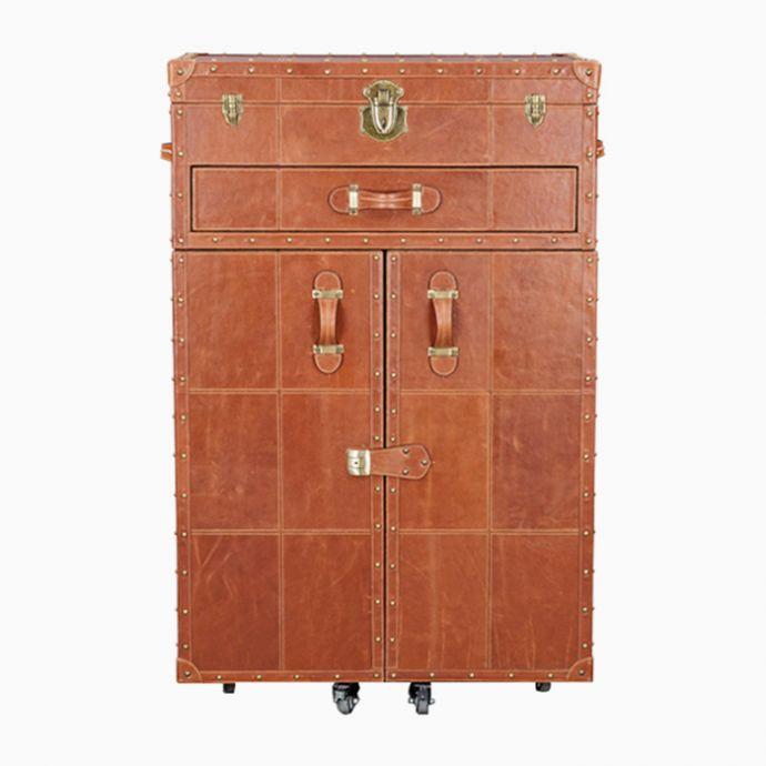 Heritage Bar Cart: Tan Brown