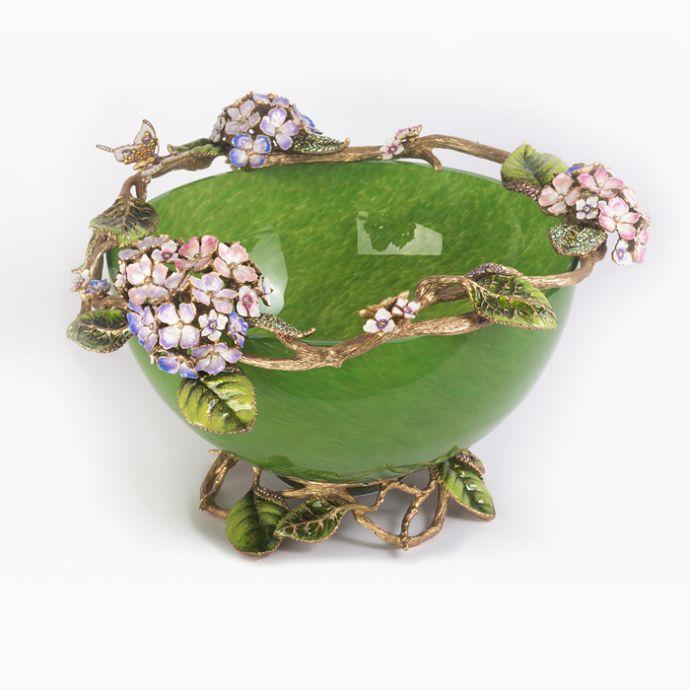 Hydrangea Glass Bowl