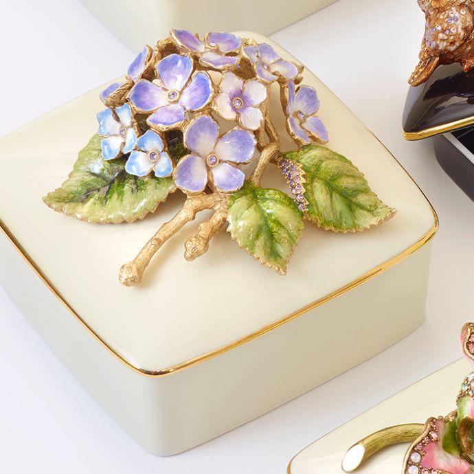 Hydrangea Porcelain Box