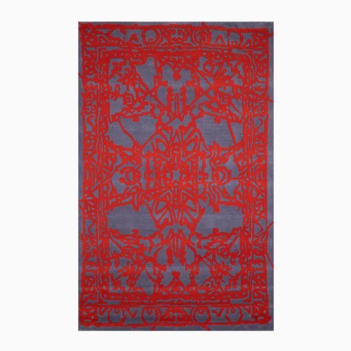Red Grey Bespoke Hand Tufted Carpet