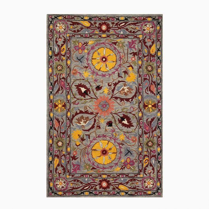 Multicolor Suzani Hand Tufted Carpet