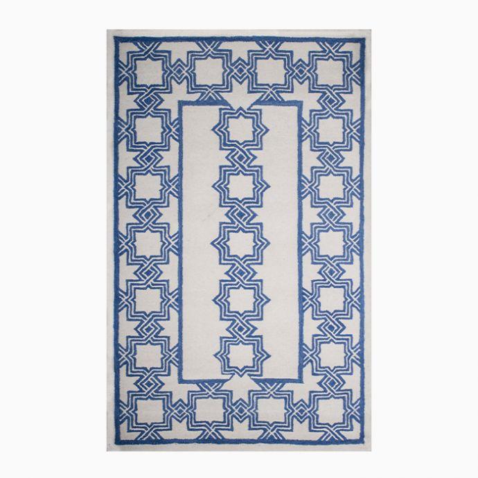Blue Trellis Hand Tufted Carpet
