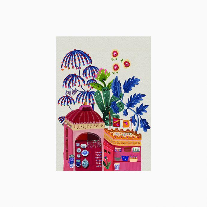 Jodi Bazaar Art Print