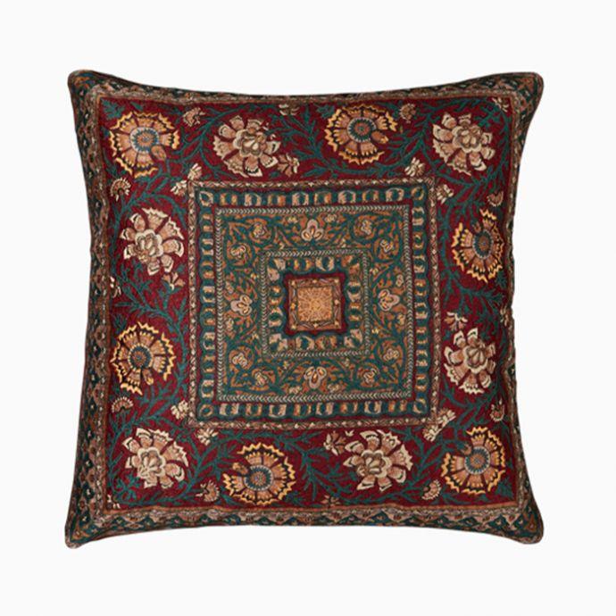 Kalamkari Square Cushion WithFiller