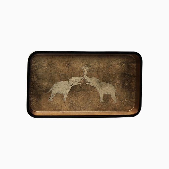 Kissing Elephants Tray (Rectangle)