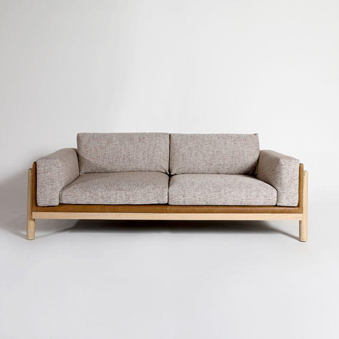 Knox 3 Seater Sofa Blue Loft The