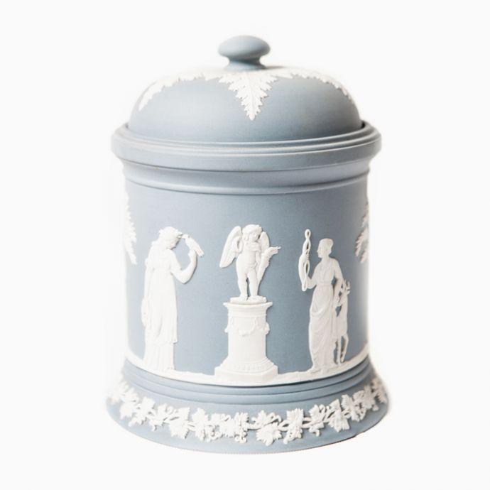 Lidded Jar Jasperware Large