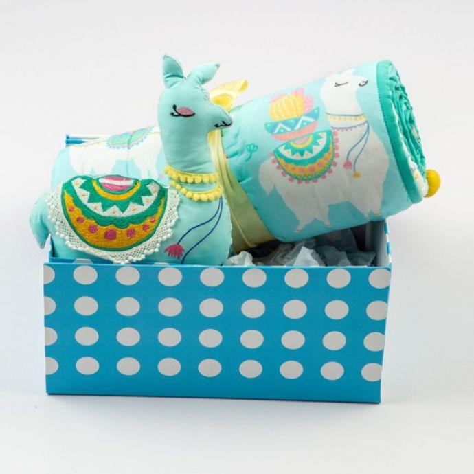 """Snuggle Time"" Organic Crib Gift Set (Llama Love)"