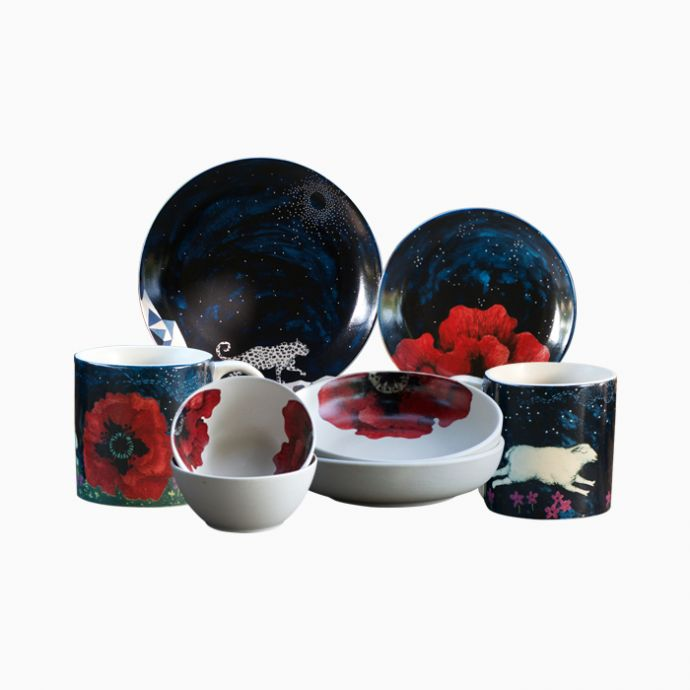 Midnight in Mashobra Dinner Set - 16 pieces