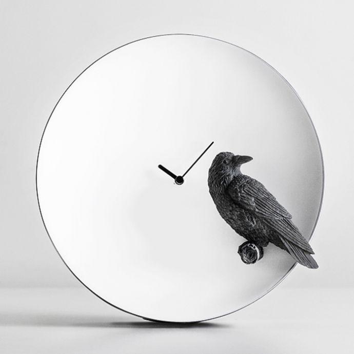 Moon X Clock - Raven