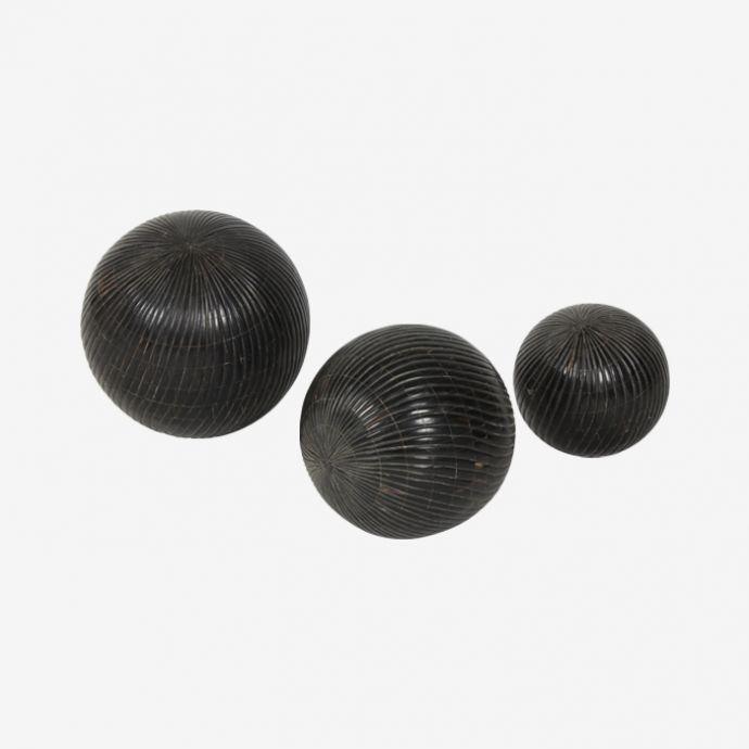 Black Inlay Balls- Set of Three