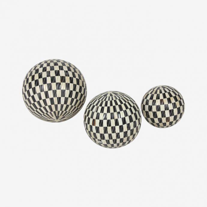 Checkered Inlay Balls- Set of Three