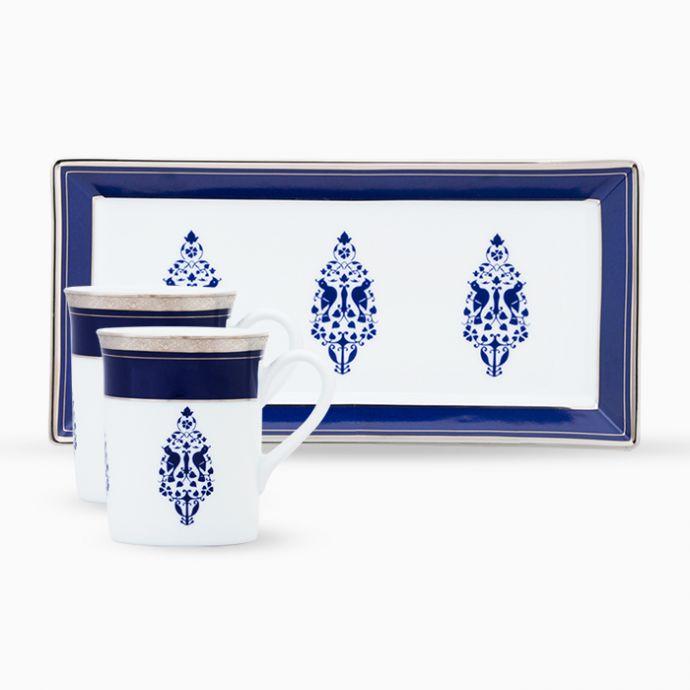 Jodhpur Evenings Mugs And Tray Set