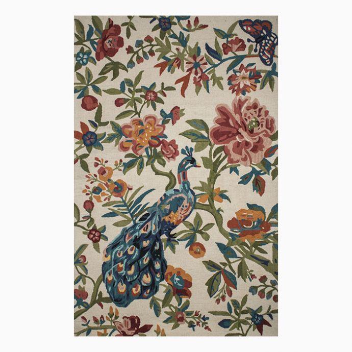 Multicolour Floral Hand-Tufted Carpet