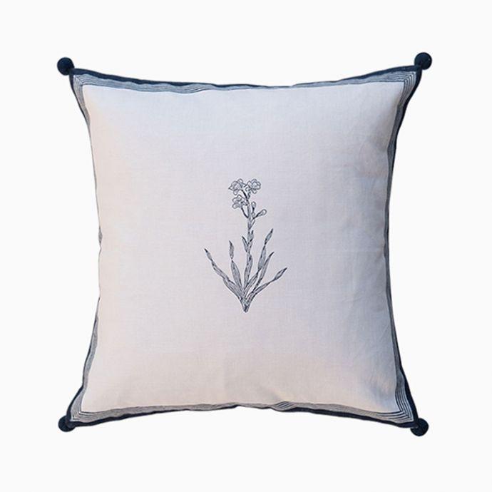 Navy Bouquet Cushion