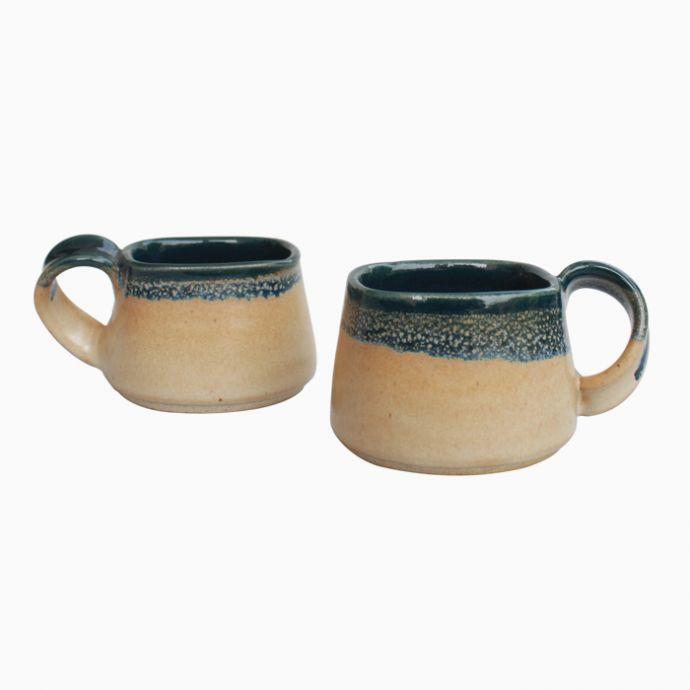 Ocean square Cups (Set of 2)