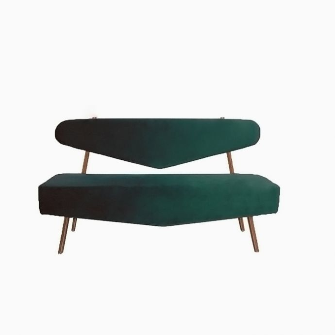 Parisian Triangular Sofa - Emerald