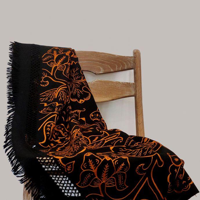 Patta Wool Throw - Black