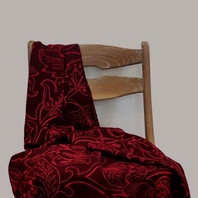 Patta Wool Throw - Merlot