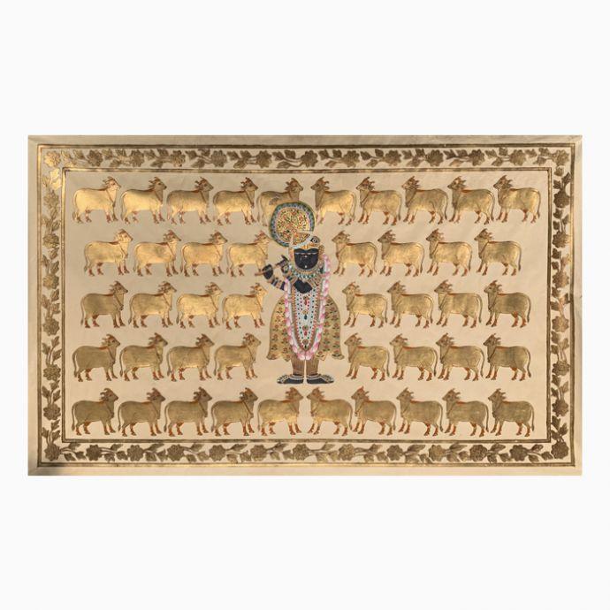 Gopashtami Rajbhog Swaroop - White And Gold