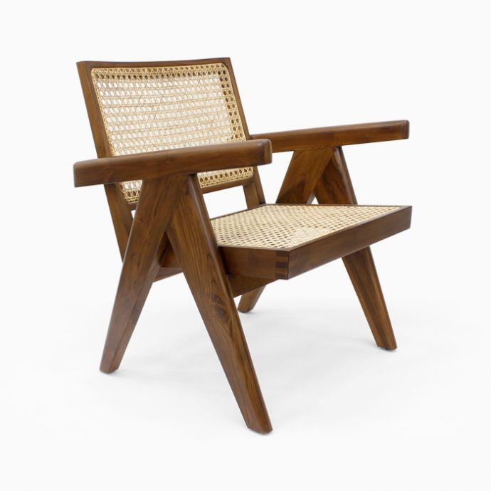Pierre Jeanneret Cane Chair