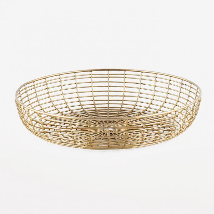Round Wire Basket - Gold